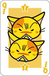 猫トランプ【怒Queen】